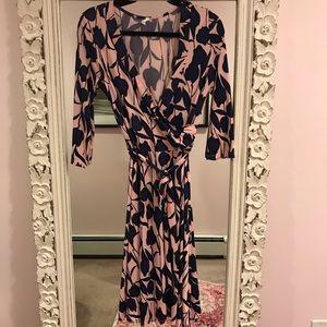 Pinkblush faux wrap dress